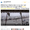 Twitter Post Preview of Hurricane Irma Video by RCI Guadeloupe