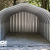 Steel building construction for garages and carport use.