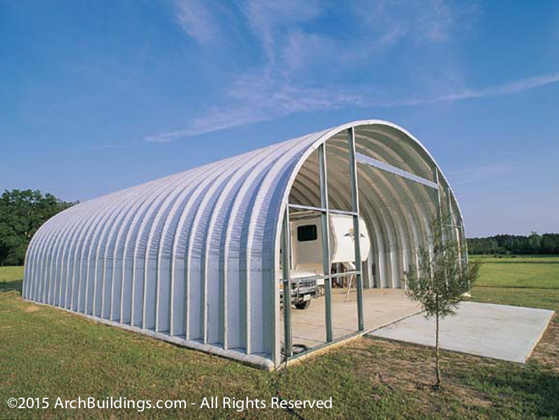 30x60 Steel Arch Rv Storage Building Archbuildings Com