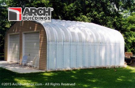 Steel garage unit from Archbuildings.com!
