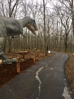 steel arch buildings, dino trail
