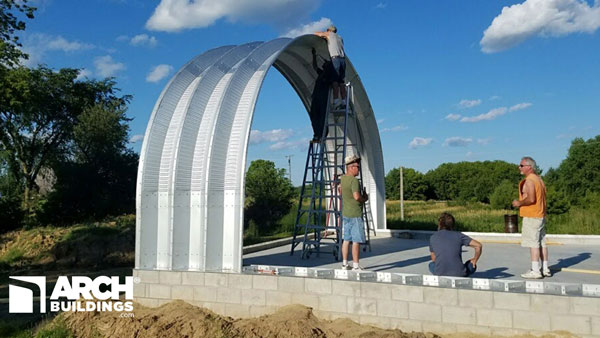 30 X 40 Premium Steel Arch Building Archbuildings Com