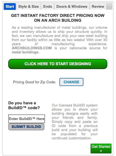 zip code for online builder