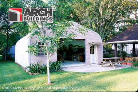 One of our 1 Car Steel Garage Kits from Archbuildings.com!