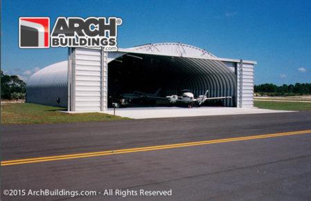 A Steel Arch Building Prefab Aircraft Hangar for sale!
