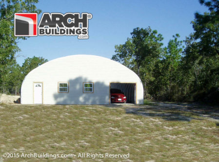 Round metal buildings make great homes and garages!