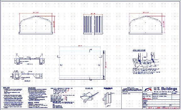Steel buildings arch building blueprints Blueprints for sale