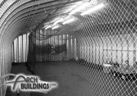 Steel Arch Batting Cage by ArchBuildings.com