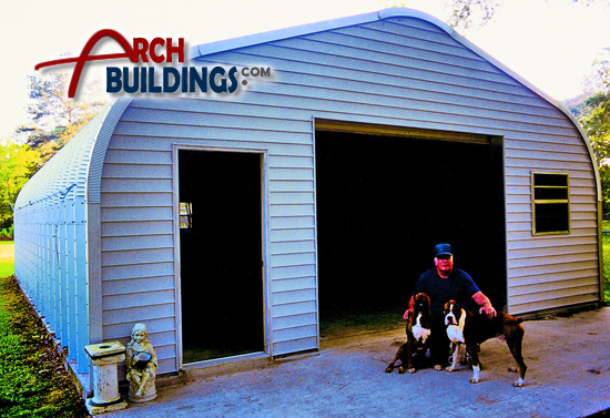 Metal Arch Shed by ArchBuildings.com