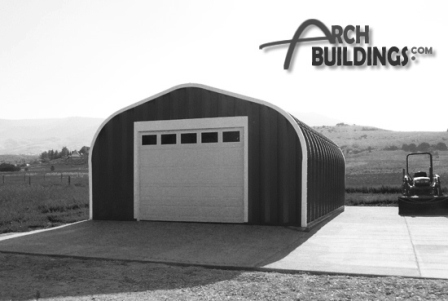 Steel Arch Garage by ArchBuildings.com
