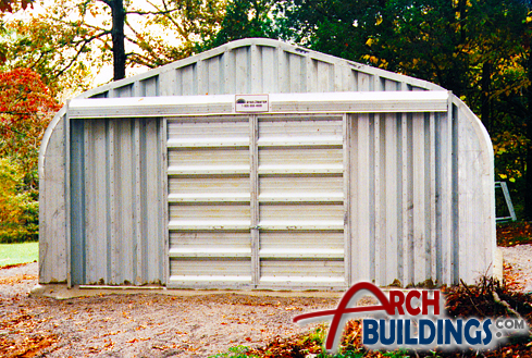 Steel Equipment Storage Building by ArchBuildings.com